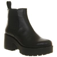 Vagabond Dioon Elastic Chelsea Boot Exclusive Black Leather - Ankle Boots