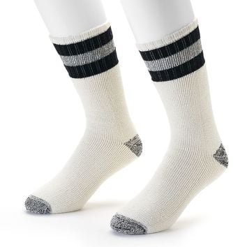 Croft & Barrow 2-pack Heavyweight Boot Socks - Men, Size: 10-13 (White)