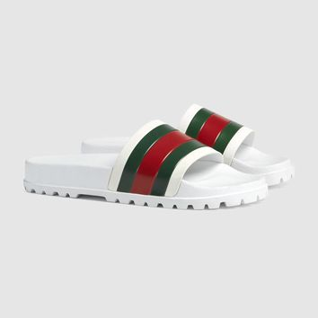Gucci Web slide sandal