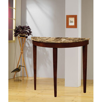 Coaster Furniture 950070 Cherry Finish Entry Table with Faux Marble Top