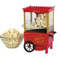 Toastess Old Fashioned Hot Air Corn Popper, Red