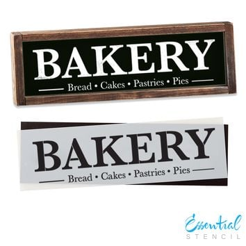 Bakery Sign Stencil