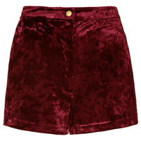Berry Crushed Velvet Shorts - New In This Week - New In - Topshop