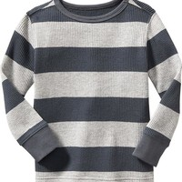 Old Navy Striped Waffle Knit Tee For Baby