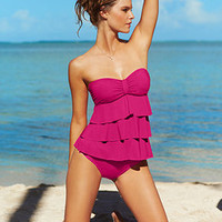 Kenneth Cole Reaction Swimsuit, Tiered Ruffle Tankini Top & Hipster Brief Bottom