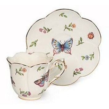 Morning Meadow Porcelain Teacup & Saucer