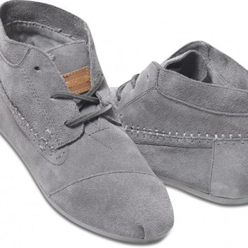 419a2553380 TOMS Shoes Grey Suede Tribal Boots Women s Lace-up Shoes