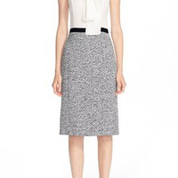 Oscar de la Renta Tie Neck Pencil Dress | Nordstrom