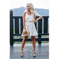 Floral Life Ruffle Dress (Ivory)