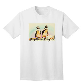 Magellanic Penguin Text Adult T-Shirt