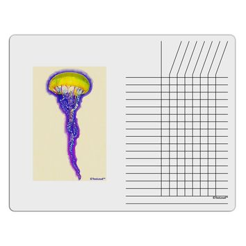 Jellyfish Outlined in Purple Watercolor Chore List Grid Dry Erase Board
