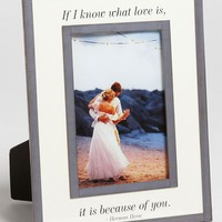Ben's Garden 'If I Know What Love Is' Picture Frame (4x6)