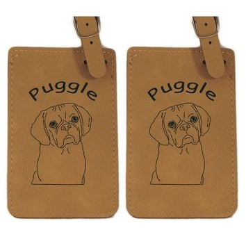Puggle Head Luggage Tag 2 Pack L3763