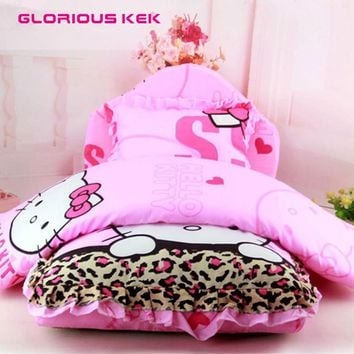 2016 Luxury Princess Dog Bed Fleece Winter Warm Puppy Beds for Small Dogs Cats Cute Hello Kitty Dog Kennel Washable Sofa 3pcs
