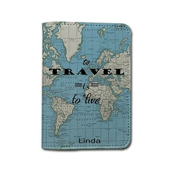 Travel Inspiration [Name Customized] Travel Leather Passport Holder - Passport Protector - Passport Cover - Passport Wallet_SUPERTRAMPshop (PPVA327)