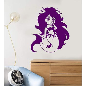 Vinyl Wall Decal Little Mermaid Cartoon Anime Children's Room Decor Stickers Unique Gift (1801ig)