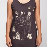 MUSE Shirt Matthew Bellamy Rock Band Shirts Women Tank Top Black Shirt Tunic Top Vest Sleeveless Women T-Shirt Size S M