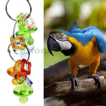 Free Shipping TINI TINGLE BIRD TOY parrot cage craft toys cages cockatiel budgie lovebird