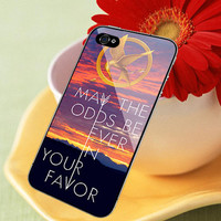 Hunger Games Catching Fire Quotes print on cover for iPhone 4/4S , 5/5S/5C cases.