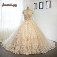 Luxury Flowers Wedding Dresses bridal dress