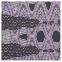 Wild Purple Black Abstract Fabric