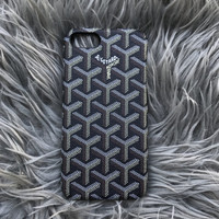 Black Goyard iphone 7 plus case