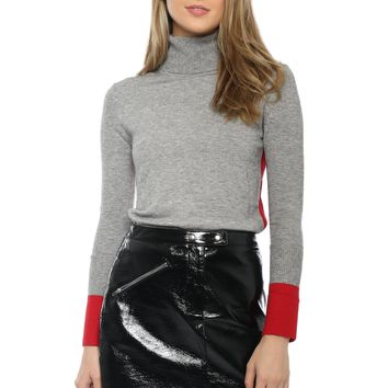 EVIDNT Color Block High Neck Top