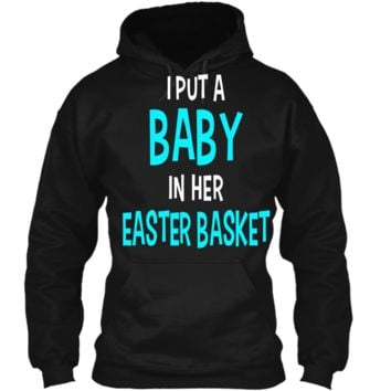 Funny Pregnancy Announcement Dad Easter Baby Announcement Pullover Hoodie 8 oz