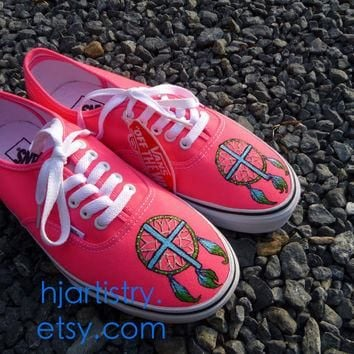 DreamCatcher Cross Shoes Painted Vans, Toms, Converse