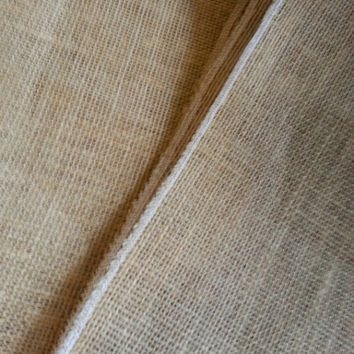 """12"""" x 72"""" Burlap Runner, finished edges, perfect for weddings and home decor!"""