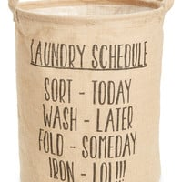 'Laundry Schedule' Linen Hamper