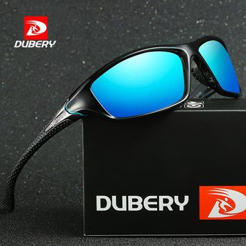 DUBERY Sunglasses Men's Driving Polarized Night Vision Sun Glasses For Men Square Sport Brand Luxury Mirror Shades Oculos UV400