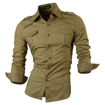 Men Casual Jeans Shirt New Arrival Long Sleeve Casual Slim Fit