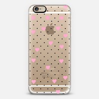 Pin Point Hearts Pink Transparent iPhone 6s case by Project M | Casetify