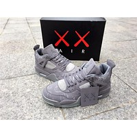 Kaws X Air Jordan 4 Cool Grey Unisex Basketball Shoes | Best Deal Online