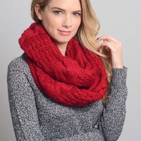 Winter Cable Knit Infinity Scarf (final sale)