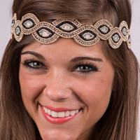 The Infinity Headband, Black/Gold