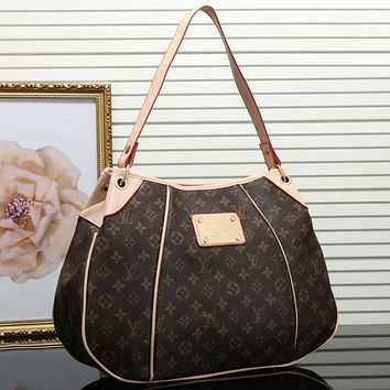 Louis Vuitton Women Leather Shoulder Bag Satchel Tote Handbag