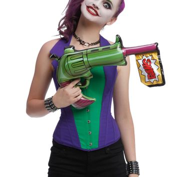 Licensed cool NEW DC  Batman JOKER Inflatable Blow Up Toy Gun Halloween Costume Cosplay