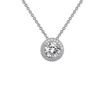 Lafonn Rhonda Faber Green Sterling Silver Platinum Plated Lassire Simulated Diamond Necklace (2.3 CTTW)