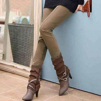 Womens Elastic-Waist Pants