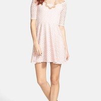 Socialite 'Marilyn' Lace Skater Dress (Juniors)