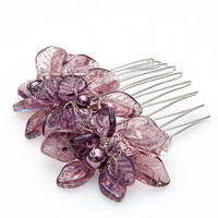 Amethyst Purple Hair Comb, Hair Piece, Bridal Accessories, Hair Accessories