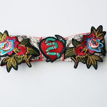 GUCCI Flower Embroidered Silk Headband One-nice™