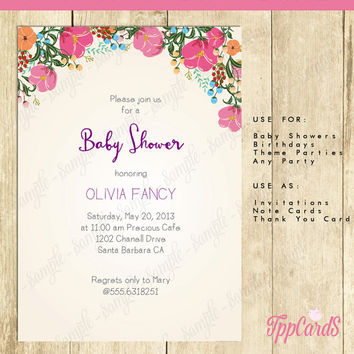Boho Baby Shower Invitation Printable