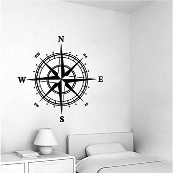 Nautical Compass Removable Vinyl Decal Wall Sticker Mural Kids Room Home Decor
