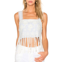 Alexis Alro Crop Top in Stripe Embroidery