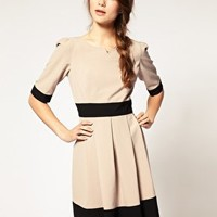 A Wear | A|Wear Colour Block Skater Dress at ASOS
