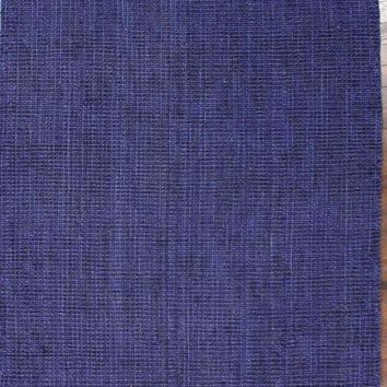 nuLOOM Navy Blue Hand Woven Chunky Loop Jute NCCL01D Area Rug