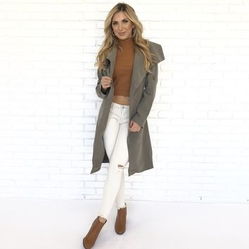 Danger Zone Trench Olive Coat
